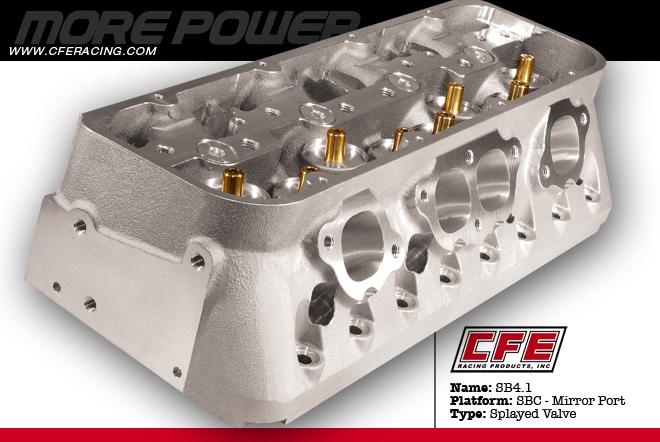 CFE SB4 1 CNC Ported SBC Heads | 586 773 6310